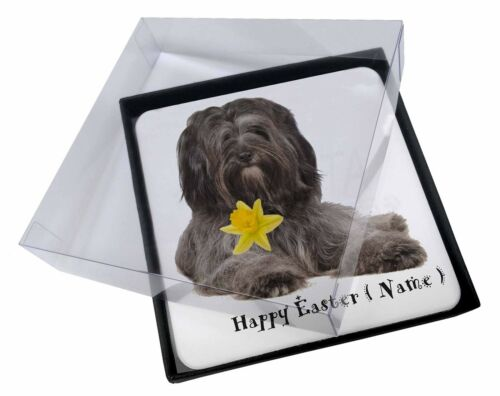 4x Personalised Tibetan Terrier Picture Table Coasters Set in Gift B, ADTT2DA2C