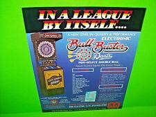 Merit BULL BUSTER Original 1985 Coin-Op Darts Arcade Game Promo Sales Flyer