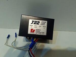 Federal Signal J22 Strobe Power Supply