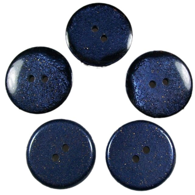 Dark Glitter Buttons - Colour and Size Choice