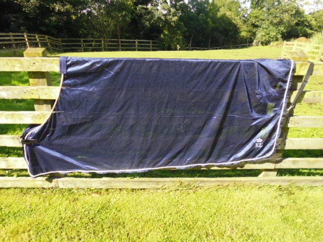 Kingsland Fine Mesh Fly Show Cooler Travel Rug Rug Travel navy Blau/ivory various Größes 00a236