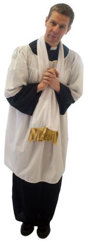 Scarf VICAR//ALTAR BOY//Choirboy Fancy Dress Costume includes Cassock,Surplus