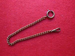 Taschenuhrkette-Kette-fur-Taschenuhren-Uhrkette-25-cm-Neu-Messing-034-altgold-034