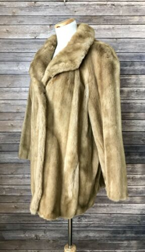 70's Tissavel Vi Usa Fur Style Faux Vintage Ltd Jacket Formal Coat France Zqtng640w