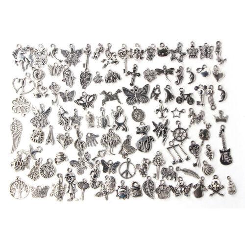 100X lots en vrac argent tibétain breloque Pendentifs bijoux ITHWC