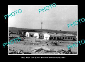 OLD-POSTCARD-SIZE-PHOTO-TOBRUK-LIBYA-WWII-AUSTRALIAN-MILITARY-BARRACKS-c1942