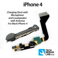 NEU Ersatz-ladestation/Port + Mikrofon & Lautsprecher für iPhone 4 SCHWARZ