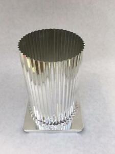 """4/"""" x 6 1//2/"""" FLUTED ROUND PILLAR CANDLE MOLD METAL NEW"""