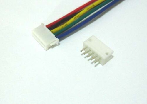 30 x Micro RC Toy JST-ZH 1.5mm 5 Pin Female Connector 15cm wire lead Male Header