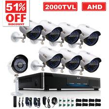 ELEC 8CH 1080N AHD DVR 720P 2000TVL HD IR CCTV Home Video Security Camera System