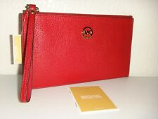 62023ea254e4 item 4 MICHAEL KORS Women's MK Fulton LG Zip CLUTCH Wrist-let Wallet Red  Leather Gold -MICHAEL KORS Women's MK Fulton LG Zip CLUTCH Wrist-let Wallet  Red ...