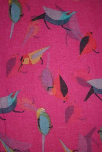 Christmax Colourful Robin Bird Animal Print Scarf Wrap Chiffon Large UK