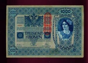 BANKNOTE-10-LANGUAGES-1000-TAUSEND-KRONEN-BANKNOTE-AUSTRO-HUNGARIAN-1902