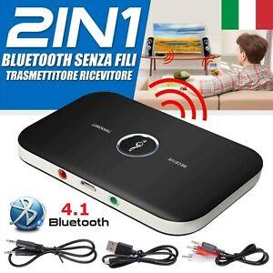 3.5mm Bluetooth Trasmettitore Ricevitore Audio Per TV PC MP3 Cuffie Speaker P3L8