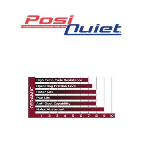TOPBRAKES Drill Slot Brake Rotors F/&R POSI QUIET Ceramic Pads TBP8387