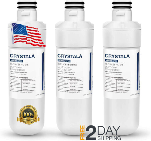 3 Pack Refrigerator Water Filter Fits For LG LT1000P MDJ64844601 ADQ74793501