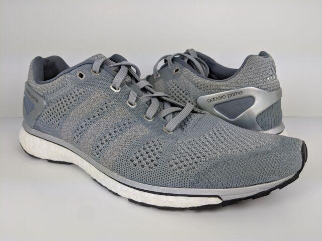 sneakers for cheap 6aa3a a2ba0 Adidas Mens Adizero Prime Boost LTD Running Shoe Grey White (AQ5238) sz 9.5