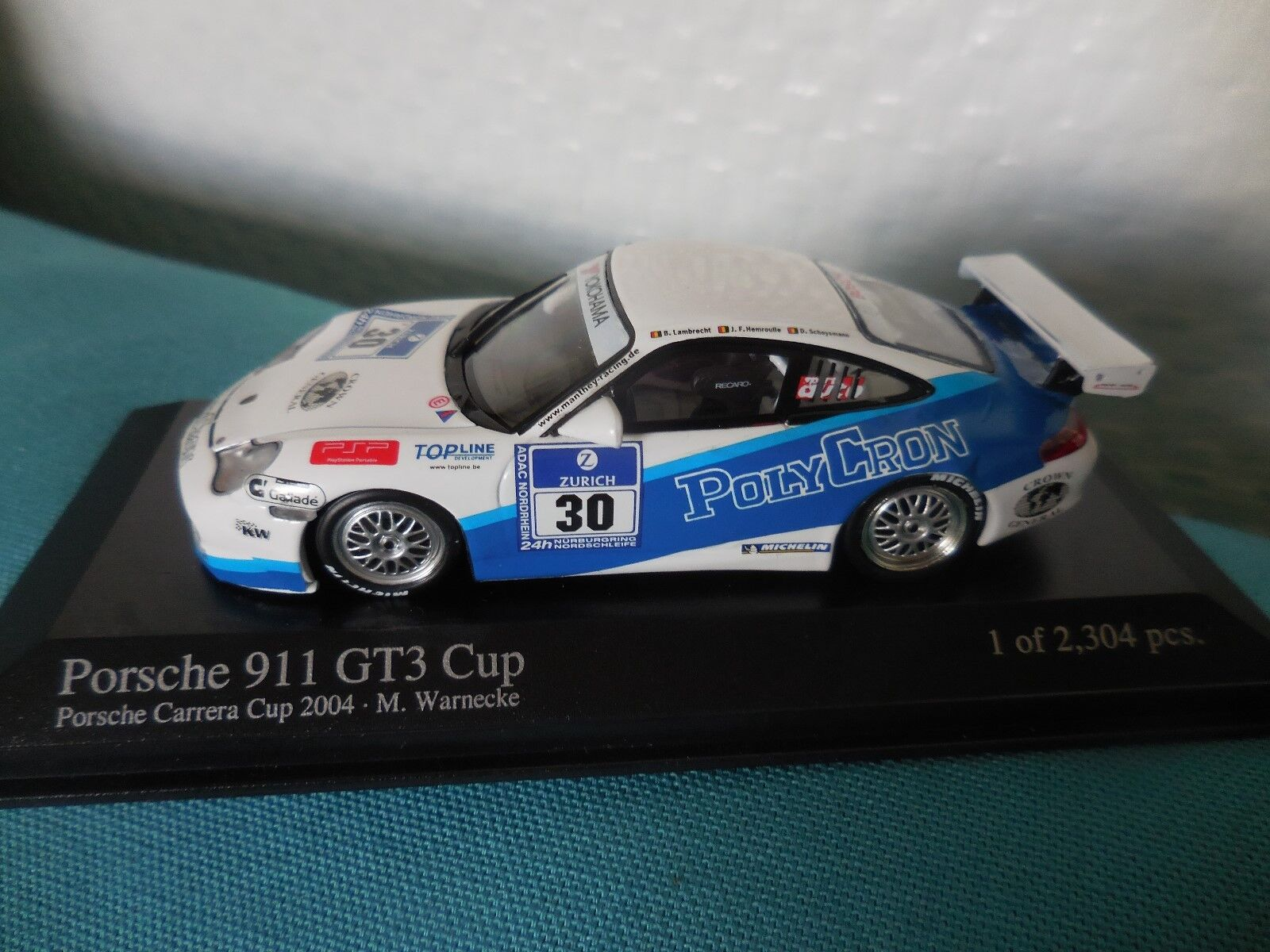 1 43 PORSCHE GT3 CUP  30 POLYCRON 4TH 24H NURBURGRING 2006 MINICHAMPS BASE