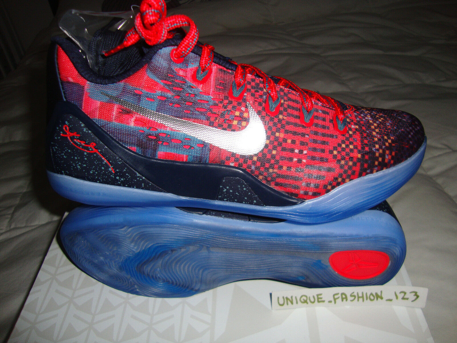 9bf1182a146 NIKE KOBE IX 9 EM PREMIUM CRIMSON LASER US INFLUENCE PRELUDE 7.5 HTM  nybvxi3854-Athletic Shoes