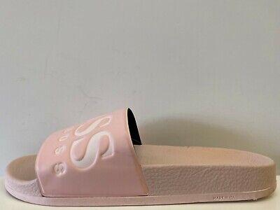 womens pink hugo boss sliders