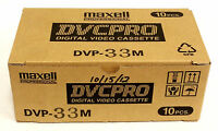 Box Of 10 Maxell Dvcpro Dvp-33m Digital Video Cassette - Fast Shipping -