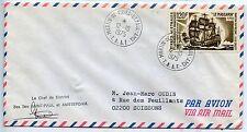 LETTRE T.A.A.F. TERRES AUSTRALES / MARTIN DE VIVIES SAINT PAUL 1975 / SOISSONS
