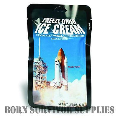 FREEZE-DRIED SPACE ICE CREAM - Astronaut Food Ration Pack Camping Gadget Gift