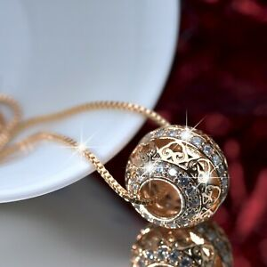 18k-yellow-gold-made-with-Swarovski-crystal-ball-bead-filigree-pendant-necklace