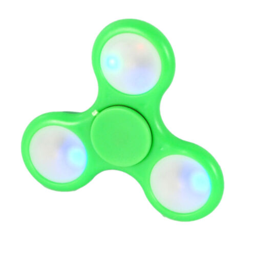 10x fidget spinner antistres cuscinetto sfera rilassante antistres tascabile LED