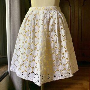 INC International Concept White Crochet Daisy Skirt SIZE 2