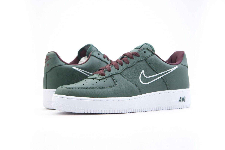 845053-300 Nike Men Air - Force 1 Low Retro - Air Hong Kong Deep Forest White 8-13 9ae971