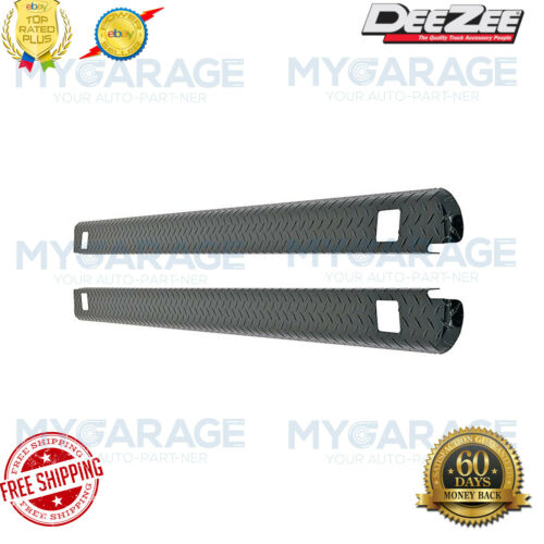 Dee Zee  Black Tread Side Bed Wrap Caps with Stake Holes for Chevy # DZ11986B