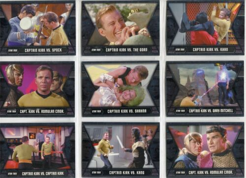 Star Trek Heroes & Villains TOS Complete Kirks Epic Battles Chase Card Set GB19