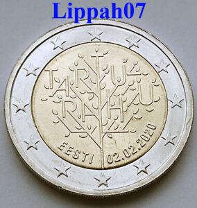 Estland-speciale-2-euro-2020-Vredesverdrag-van-Tartu-UNC