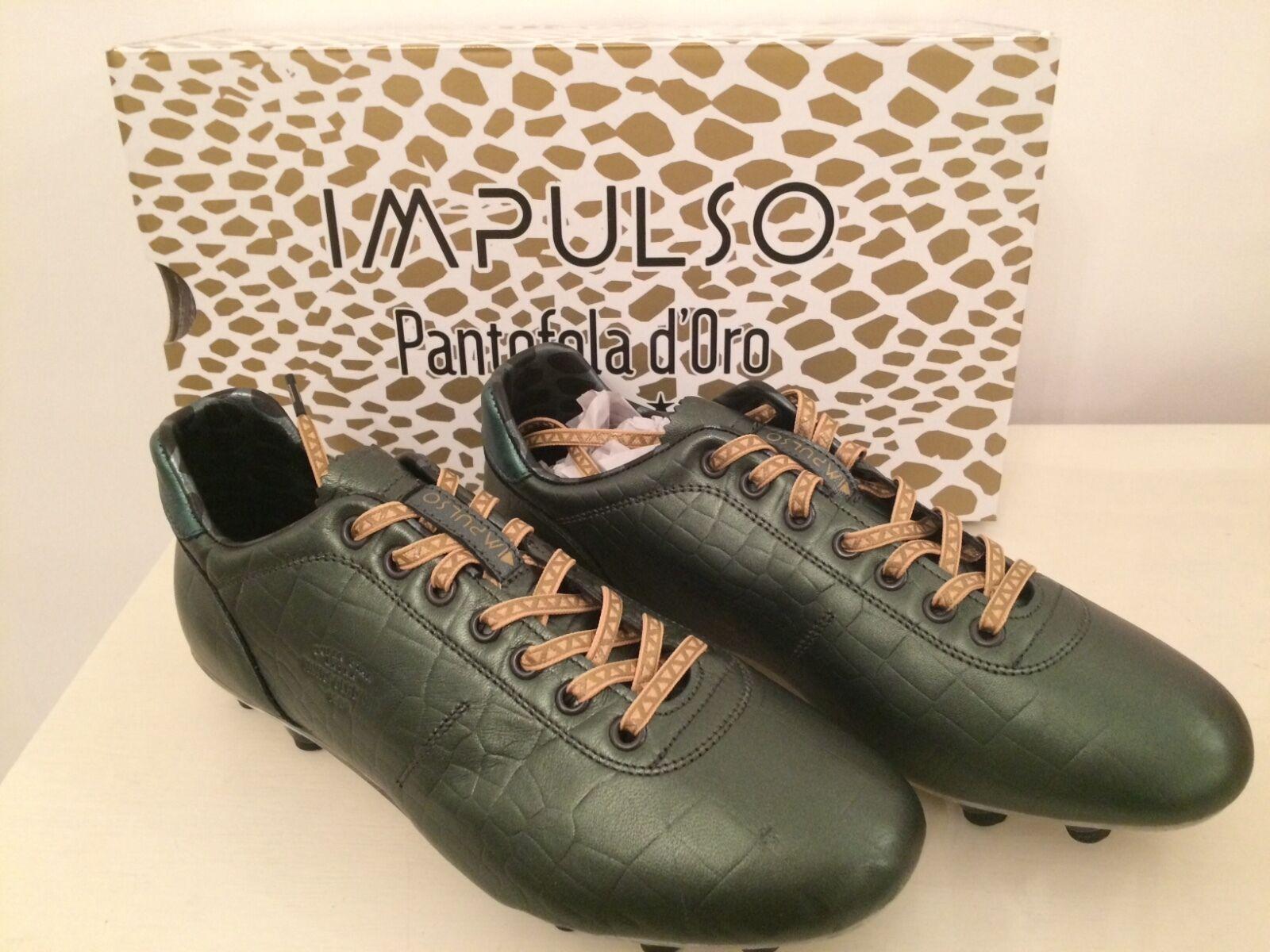 Impulso Pantofola d'Oro Größe 46 Euro New Cocco Nile Grün Football Studs