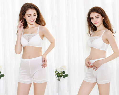 Lady Knit Silk Underwears Lace Boxer Briefs Knickers Panty Shorts Silm Soft Cosy
