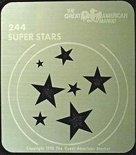 "Gobo template pattern - GAM 244 ""Super Stars"""