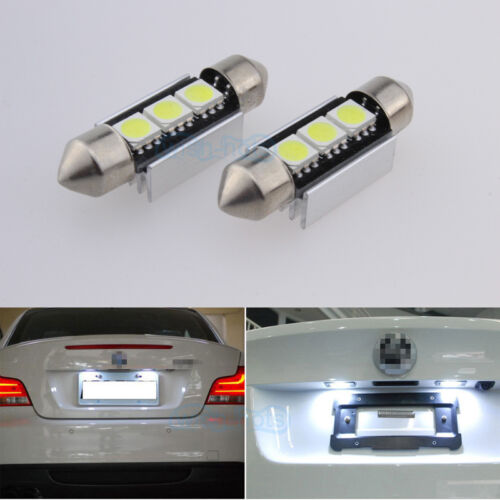 Xenon White LED Number License Plate Lights Bulbs For Ford Focus MK1 98-04 RS