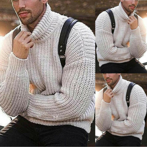 Jumper Sweater Pullover High neck Warm Long Sleeve Turtleneck Pullover Sweater
