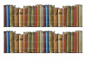 2-x-8cm-Row-of-Books-ND1-Cake-wrap-around-ribbon-A4-cake-topper-icing-sheet