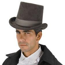 Gray Derby Top Hat 1800s Steampunk Victorian Costume Jack the Ripper Sherlock