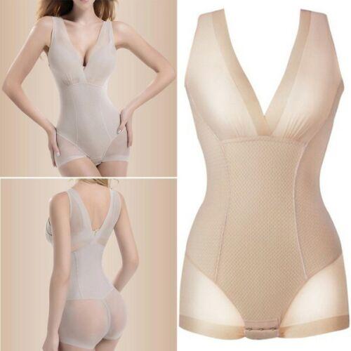Womens Seamless Full Body Shaper Tummy Control Bodysuit Corset Cincher Shapewear