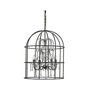 Creative co op metal birdcage chandelier with crystals and 4 lights stock photo aloadofball Choice Image