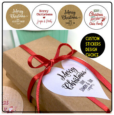 Personalised Christmas Your Name Gift Round Stickers 24