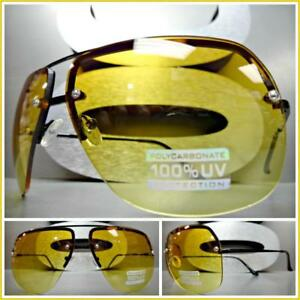 f9595bdcadc Men Women Vintage Retro Style SUNGLASSES Black Frame Orange   Yellow ...