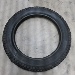 Dunlop 3 25 16 Lightweight Reinforced Knobby Motorcycle Tire Nos Vintage Ebay
