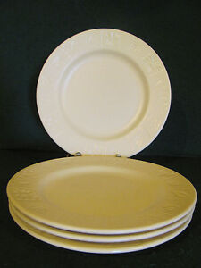 Image is loading 4-DINNER-PLATES-FURIO-HOME-BY-ROSANNA-CREAM- & 4 DINNER PLATES / FURIO HOME BY ROSANNA / CREAM COLORED/ MADE IN ...