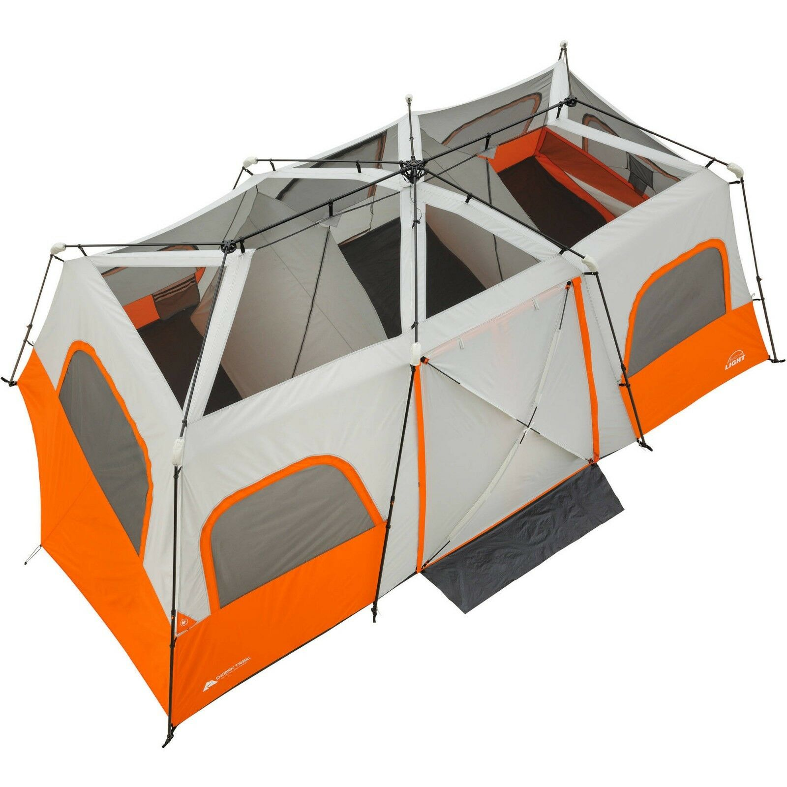 Cabin Tent Ozark Trail 12 Person Camping Family Outdoor Instant Tents 3 Room