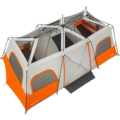 Cabin Tent Ozark Trail 12 Person Camping Family Outdoor Instant Tents 3  Room 167605032277 | eBay