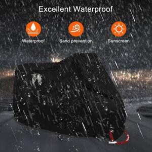 Heavy-Duty-Waterproof-Motorcycle-Cover-Oxford-Dustproof-Motorbike-Shelter-Black